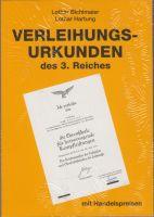 Lothar Hartung, Verleihungsurkunden des 3. Reiches 2011/2012