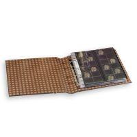 Ringbinder OPTIMA, im Classic-Leder Design inkl. Schutzkassette, hellbraun