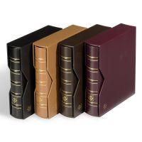 Ringbinder OPTIMA, im Classic-Leder Design inkl. Schutzkassette, rot