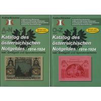 Katalog des Österreichischen Notgeldes 1914-1924, 2 Bände, 1.200 Seiten, 8.500 Abbildungen