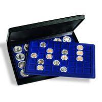 Münzkassette PRESIDIO TAB für 128 Münzen oder Münzkapseln bis 47 mm Ø in Tableaus