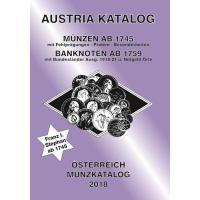 ANK Österreich Münzkatalog 2018 - Münzen ab 1745, Banknoten ab 1759