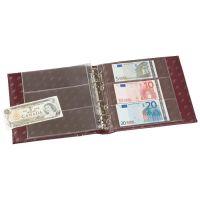 Banknoten-Album NUMIS, im Classic Design, rot